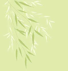 bamboo green leaves vector image