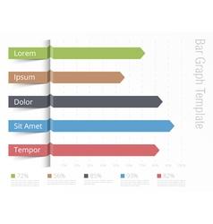Bar Graph Template vector image