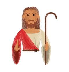 drawing jesus christ hope design vector image