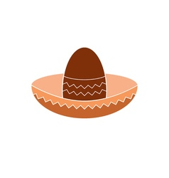 icon mexican hat vector image