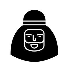 muslim man icon black sign vector image