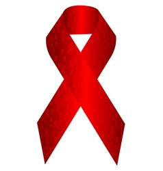 Aids awareness ribbon vector image