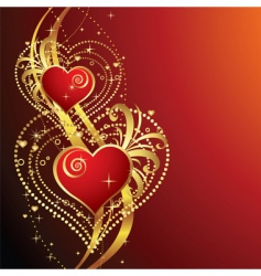 beautiful background with hearts v vector image vector image