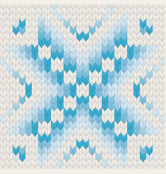 blue jacquard fairisle seamless knitting pattern vector image