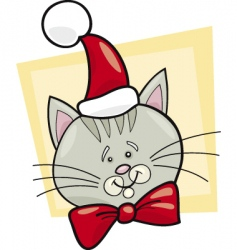 Christmas cat Santa vector image vector image