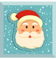 Fullface Santa Blue vector image vector image