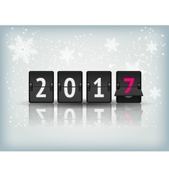 Happy New Year blue background with snowflakesand vector image vector image
