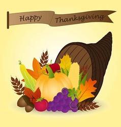 Thanksgiving Cornucopia vector image vector image