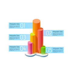Abstract business infographic concept vector