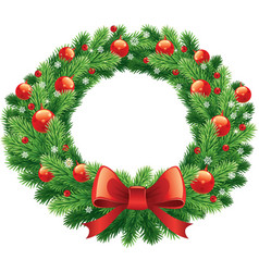 Advent and christmas wreath vector