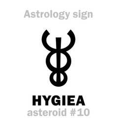 astrology asteroid hygiea vector image