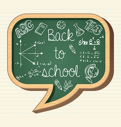 Back to school education icons social bubble vector