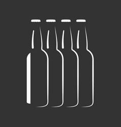 beer bottles silhouette background vector image