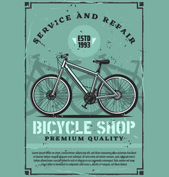 bicycle rent repair and fixing service vector image