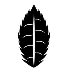 Black and white leaf icon design ecology theme vector image