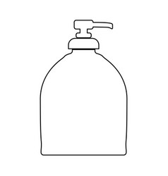 Bottle of liquid soap black color icon vector