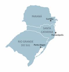 brazil south region vector image