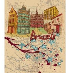 brussels doodles vector image