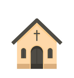 catholic church icon flat style vector image