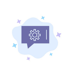 Chat preferences chat setting chat support blue vector