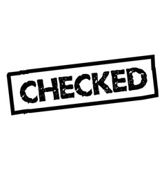 Checked sticker stamp vector