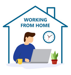 concept for working freelancing studying vector image