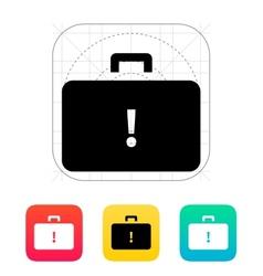 Dangerous case icon vector image vector image