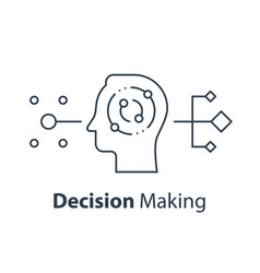 Decision making critical thinking psychology vector