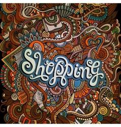 decorative design card shopping vector image