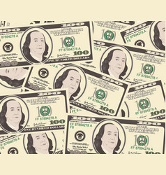 dollar background vector image
