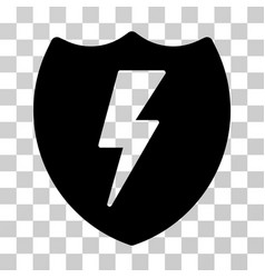 Electric shield icon vector