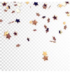 Falling golden stars vector