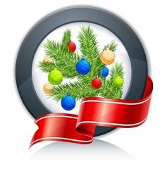 fir tree sign vector image