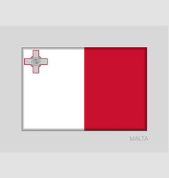 Flag of malta national ensign aspect ratio 2 to 3 vector