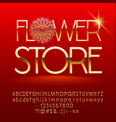 flower store sign vector image