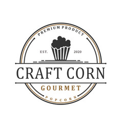 Food snack corn logo vintage vector