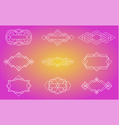 Geometric icons signs labels vector