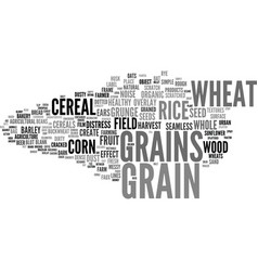 Grains word cloud concept vector