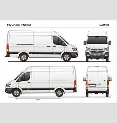 Hyundai h35 l3h2 cargo van vector