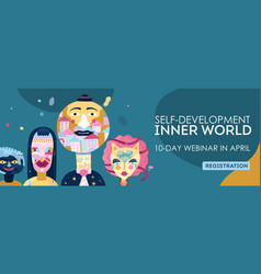 Inner world webinar header vector