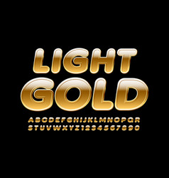 Light gold alphabet letters and numbers ri vector