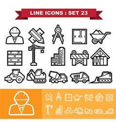 Line icons set 23 vector