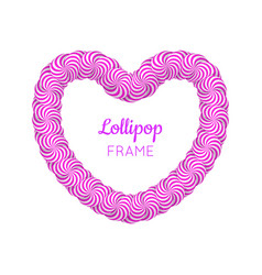 lollipop red heart frame vector image