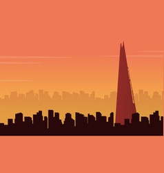 London city building scenery vector