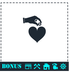 love for money icon flat vector image