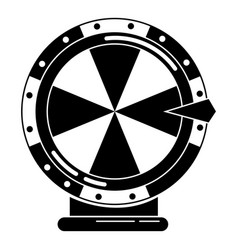 Lucky wheel icon simple style vector