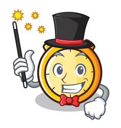 Magician chronometer character cartoon style vector