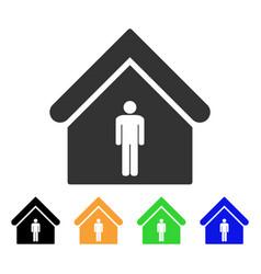 Man toilet building icon vector