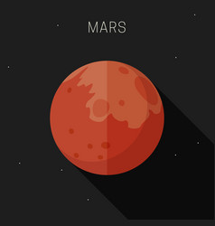 mars planet vector image
