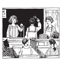 Math class or problems vintage engraving vector